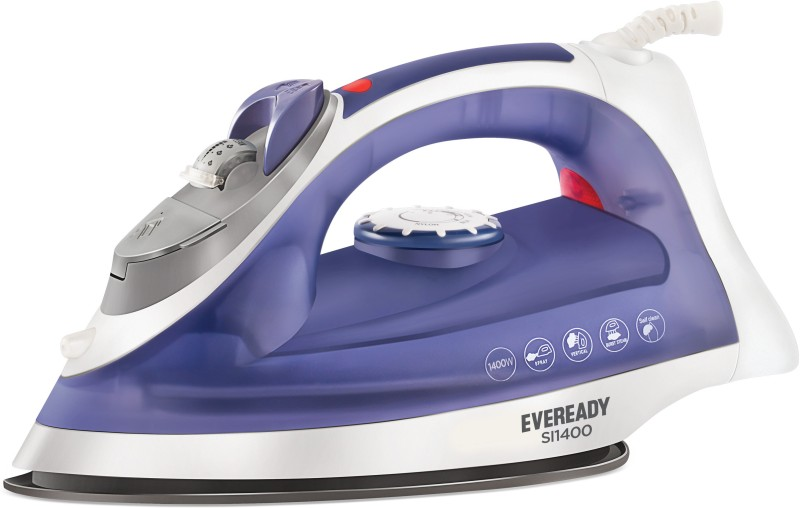 Eveready SI1400 Steam Iron(White, Purple)