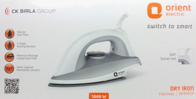 Orient FABRIMATE Dry Iron(Grey)