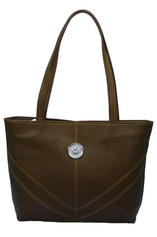 VS Creation Women Brown Shoulder Bag