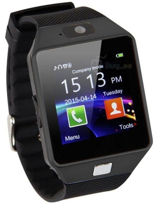 HealthMax HMS02-BK phone Black Smartwatch(Black Strap Regular)