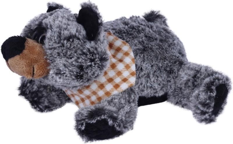 Ultra Lying Bear Plush Animal Stuffed Toy Black - 14 cm(Black)