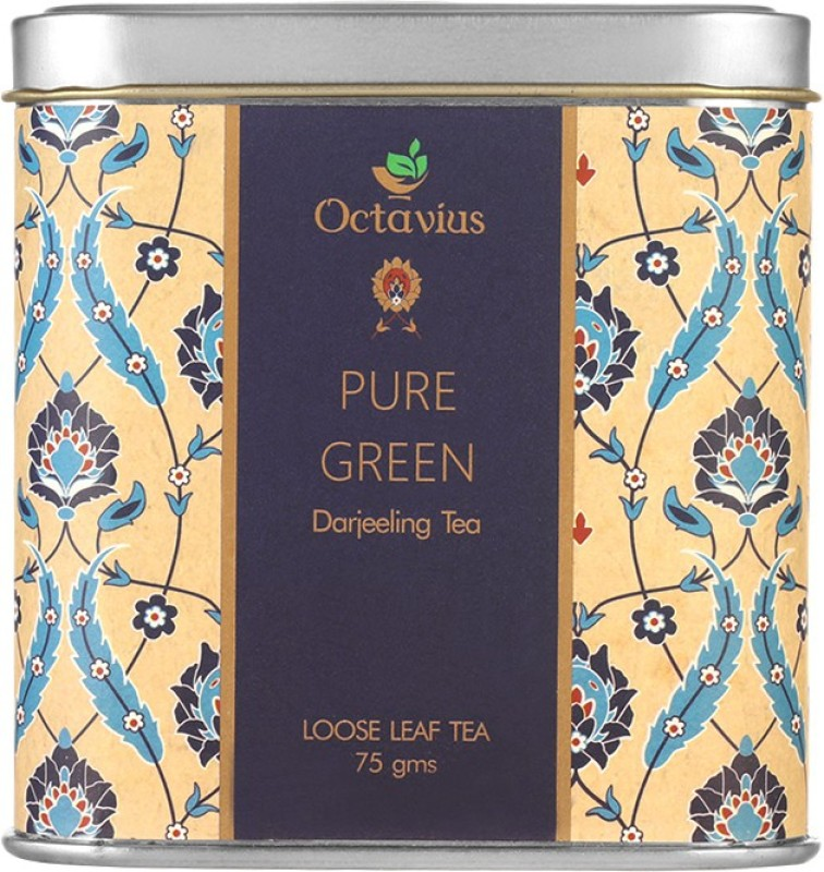 Octavius Fresh Loose Leaf Pure Green Tea from Darjeeling Green Tea(75 g, Tin)