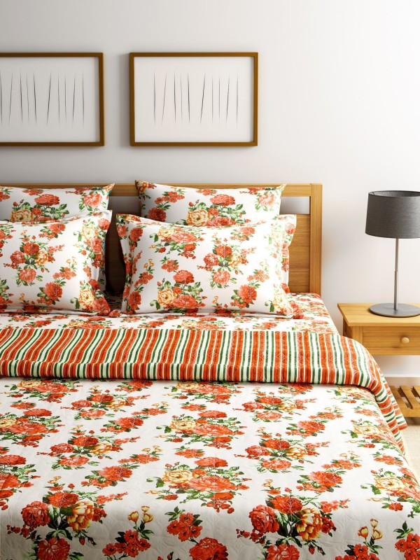 Turu India Floral desire Cotton Bedding Set(Multicolor)