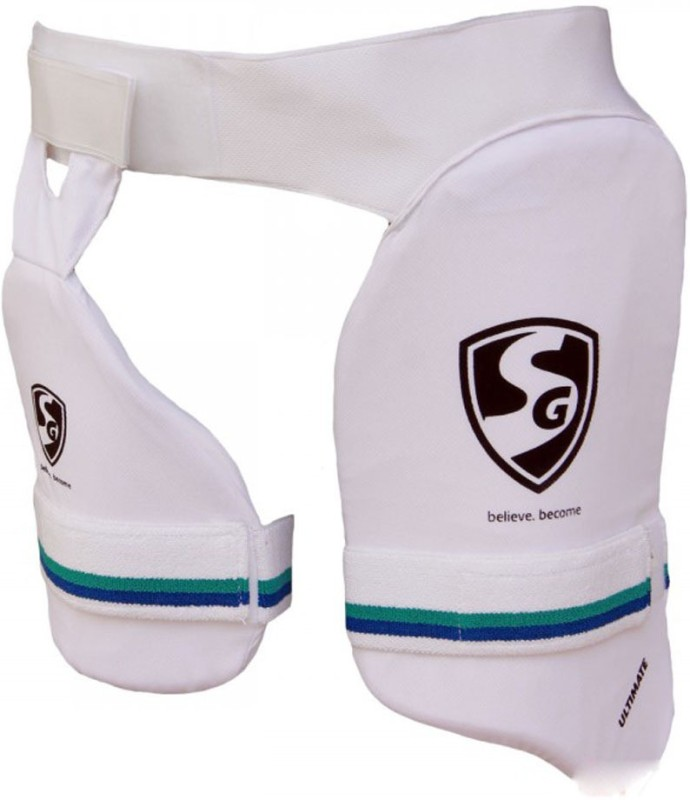 SG Combo Ultimate LH Cricket Thigh Guard(White)