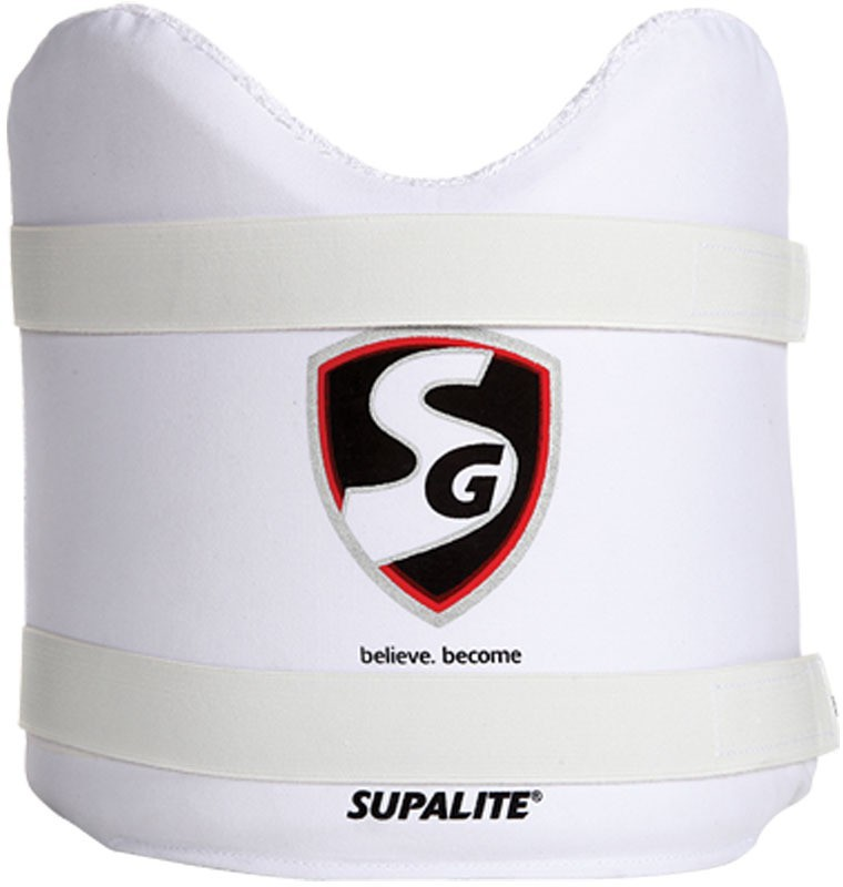 SG Supalite Youth Cricket Chest Guard(White)