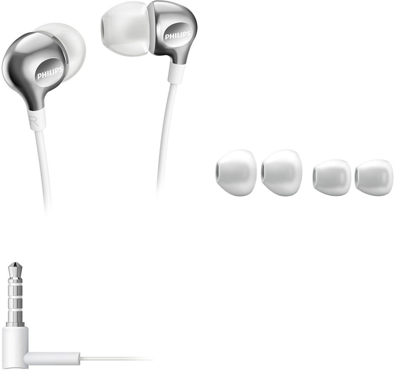 Philips SHE3705WT/00 Headphone(White, Silver, In the Ear)