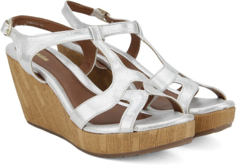 Bata Women Silver Wedges