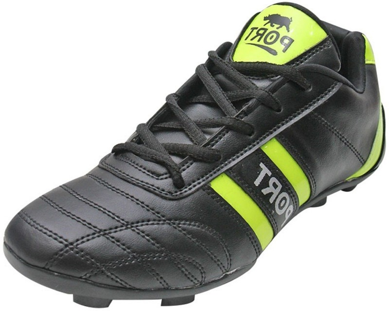 Port Pompie Football Shoes(Black, Green)