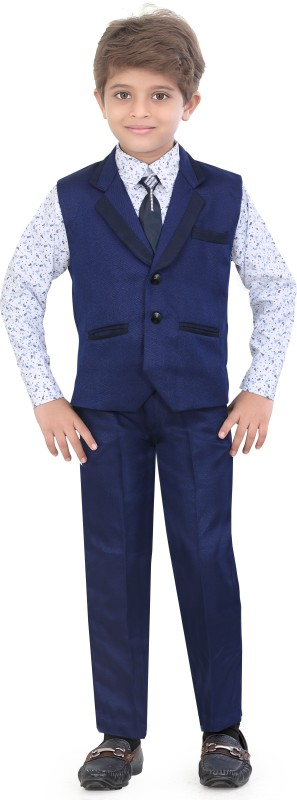 Jeet Indo Western Self Design Boys Suit