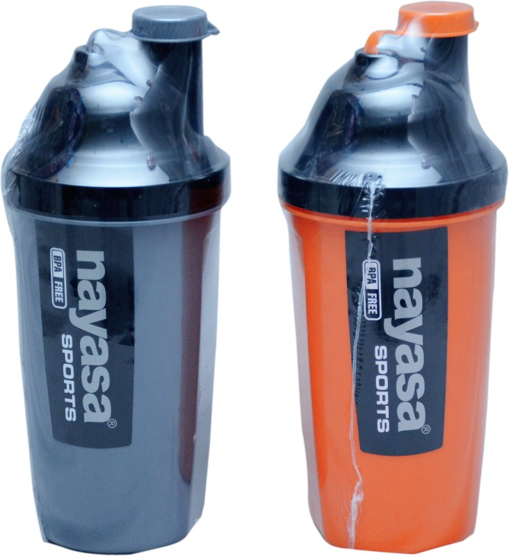 Nayasa sporty track 700 ml Water Bottles(Set of 2, orange and green)