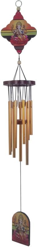 Fabionic Aluminium, Wood Windchime(31 inch, Multicolor)