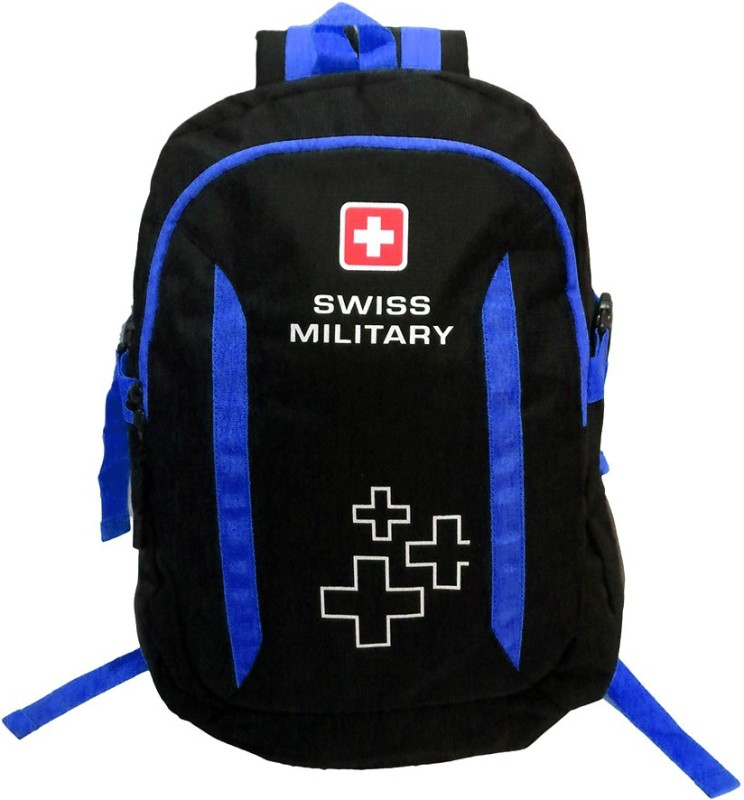 Swiss Military Polyester 23 L Backpack(Black, Blue)