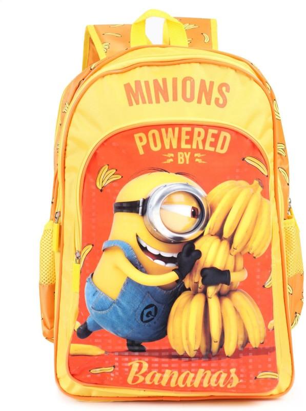 Minion School Bag School Bag(Yellow, 14 inch)