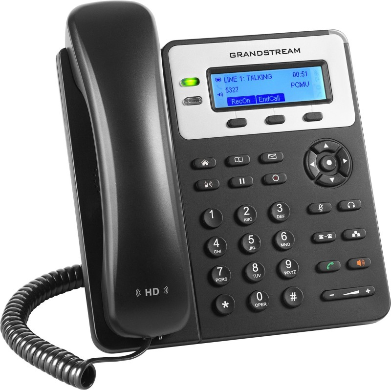 Grandstream GXP 1625 Corded Landline Phone(Black)