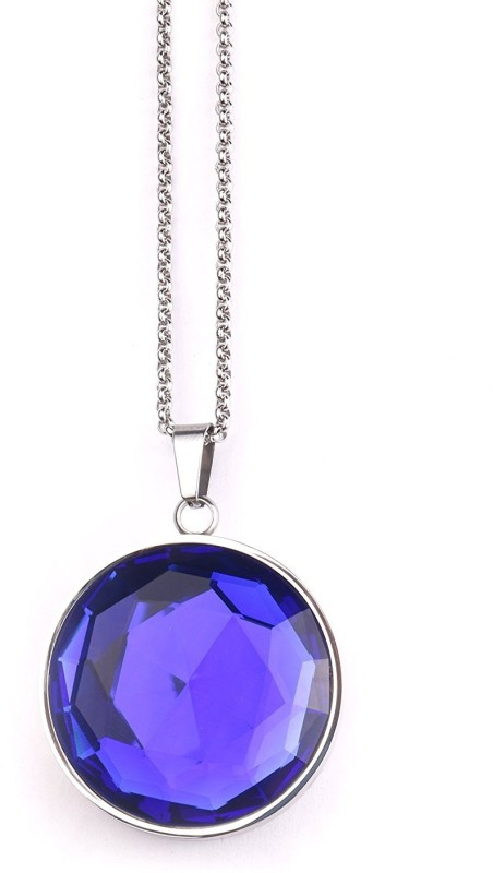 Creative India Exports Jewellery Blue Round Smart Pendant(Blue, Silver)