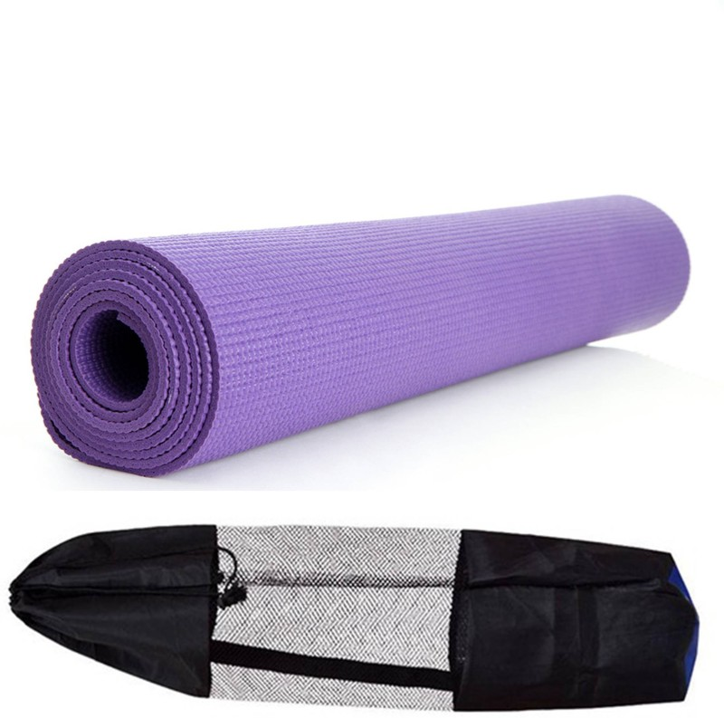 Skyfitness Yoga mat With bag Purple 4 mm Yoga Mat