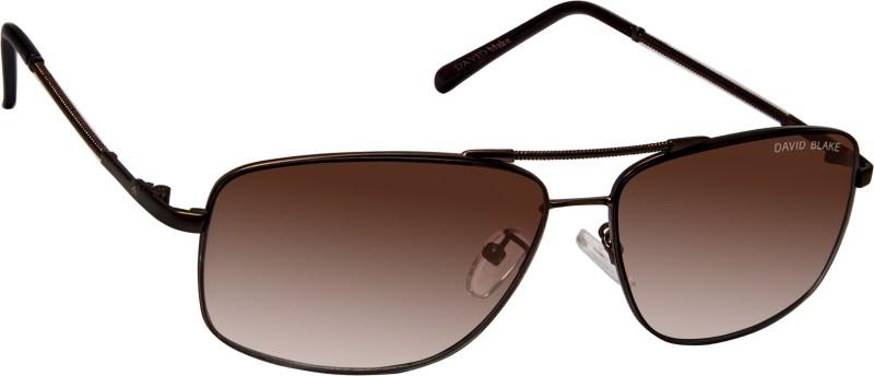 David Blake Rectangular Sunglasses(Brown) image