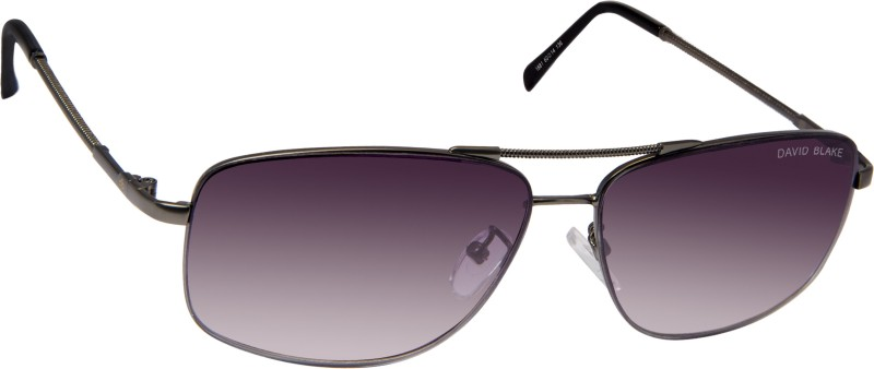 David Blake Rectangular Sunglasses(Grey) image