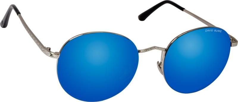 David Blake Round Sunglasses(Blue) image