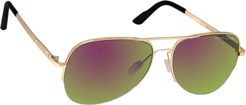 David Blake Aviator Sunglasses(Violet) image