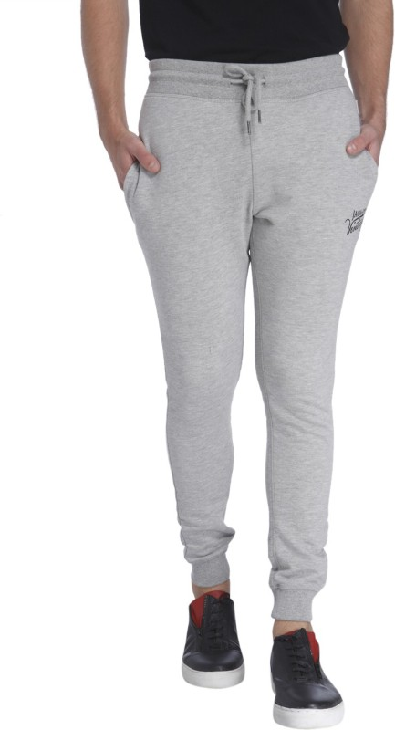 Jack & Jones Solid Mens Grey Track Pants