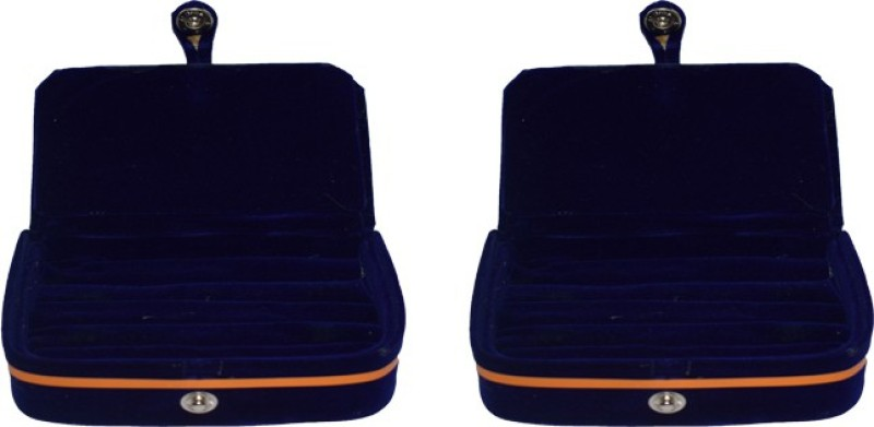 Aadhya Multipurpose ring folder packof 2 Keeps jewelleries safe. Vanity Box(Blue)
