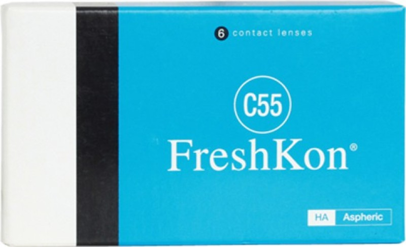 Freshkon C55 with LensCareKit by VisionsIndia Monthly Contact Lens(-4.75, Clear, Pack of 6)
