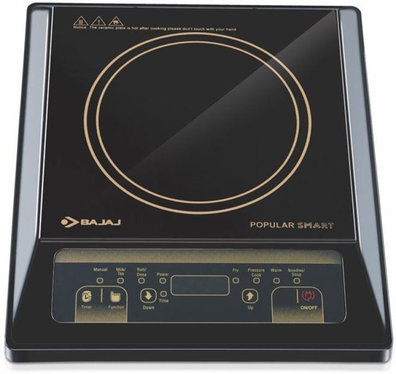Bajaj KIT 133 Induction Cooktop(Black, Push Button)
