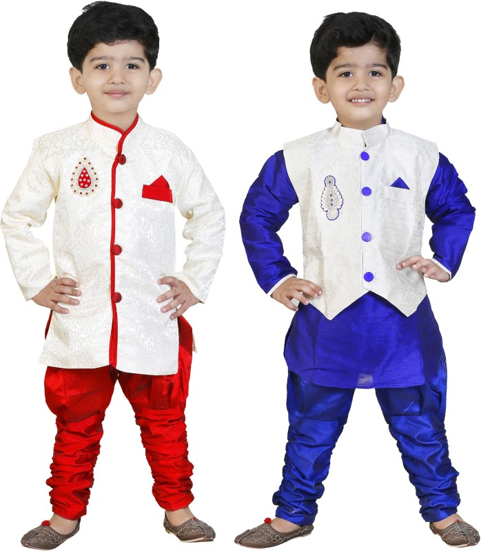 GENERATION NEXT Boys Festive & Party Kurta and Pyjama Set(Multicolor Pack of 2)