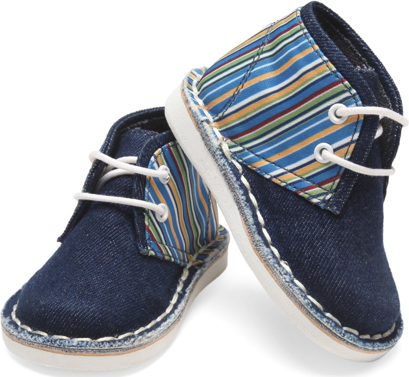 Teddy Toes Boys Lace Casual Boots(Blue)
