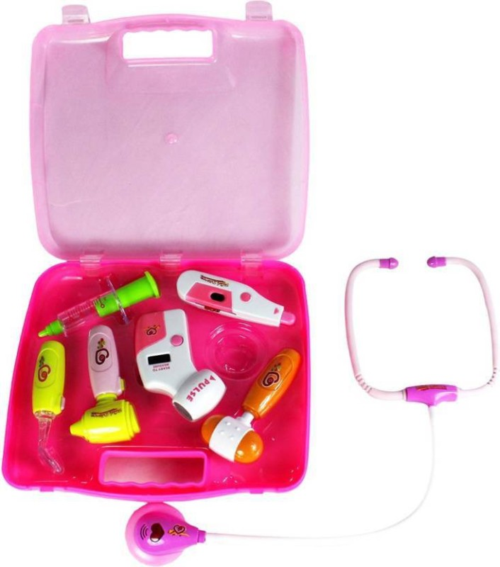 HR 8pc Battery Operated doctor set with light/sound effects