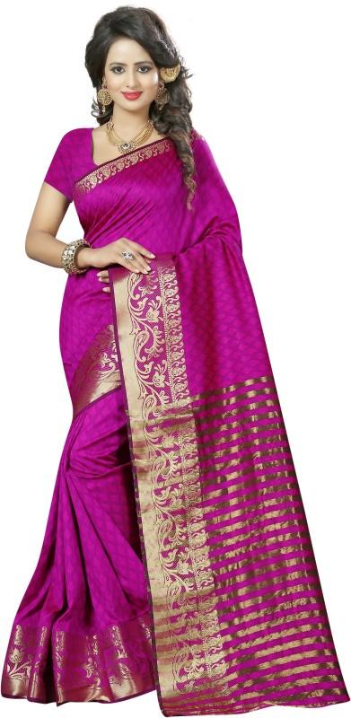 Style U Self Design, Woven Banarasi Handloom Art Silk Saree(Pink, Gold)