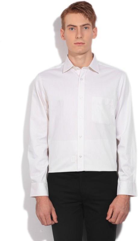 Arrow Mens Striped Formal Beige Shirt