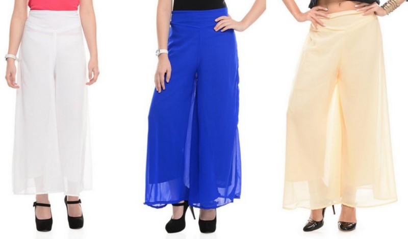 Stop Look Regular Fit Women White, Beige, Blue Trousers