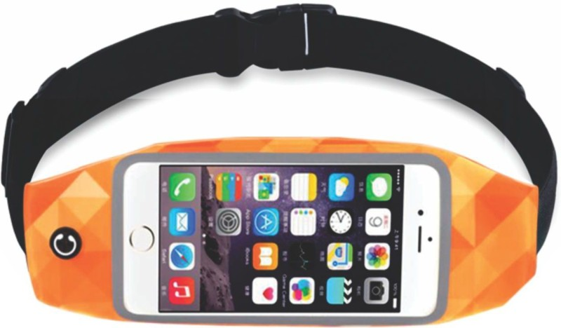 Tantra Zipper Smart Sports Running Waist Belt Aerobic Band(Orange)