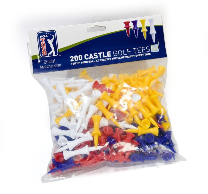 Smash PGA Castle Tees Golf Tees(Pack of 200, Multicolor)