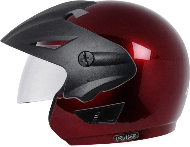 Vega Cruiser W/P Motorbike Helmet(Burgundy)