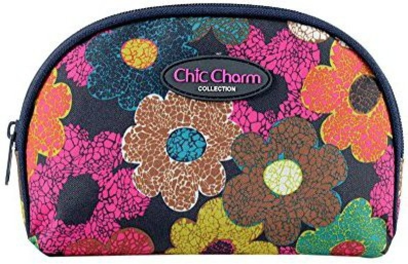 Jacki Design Chic Charm Dome Cosmetic Bag Floral Cosmetic Bag(Multicolor)