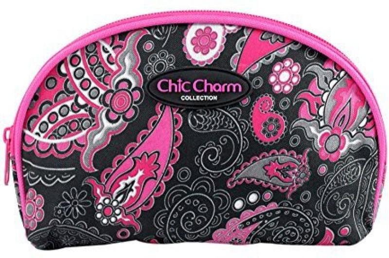 Jacki Design Chic Charm Dome Cosmetic Bag Pink Cosmetic Bag(Pink)