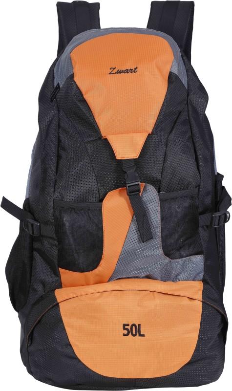 Zwart RUCK-JONROV Rucksack - 50 L(Black, Orange)