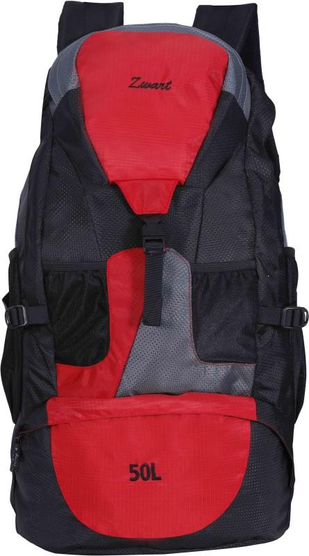 Zwart RUCK-JONROV Rucksack - 50 L(Black, Red)