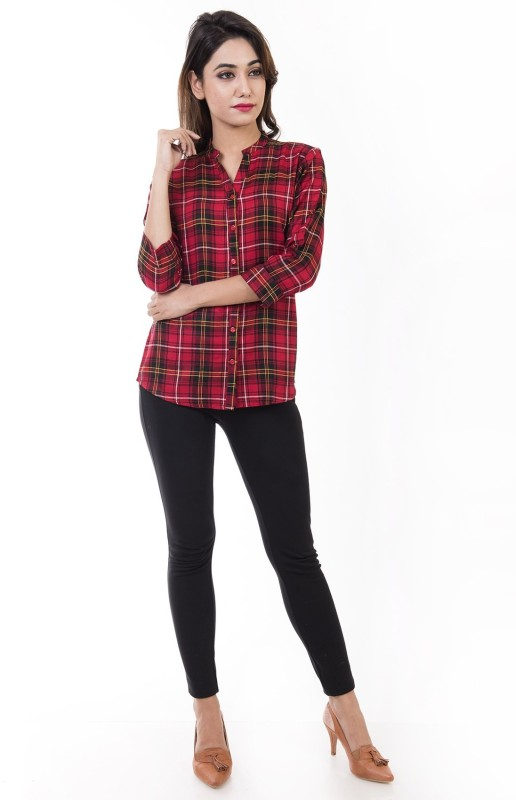 Amadore Women's Checkered Casual Multicolor Shirt