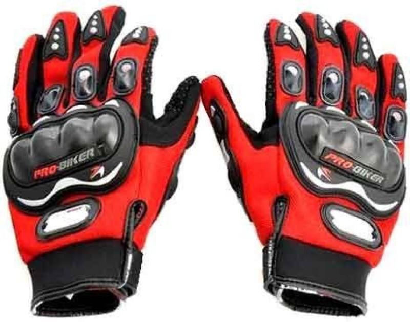 meenu arts PRO-BIKER-R-L-008 Riding Gloves (L, Red)