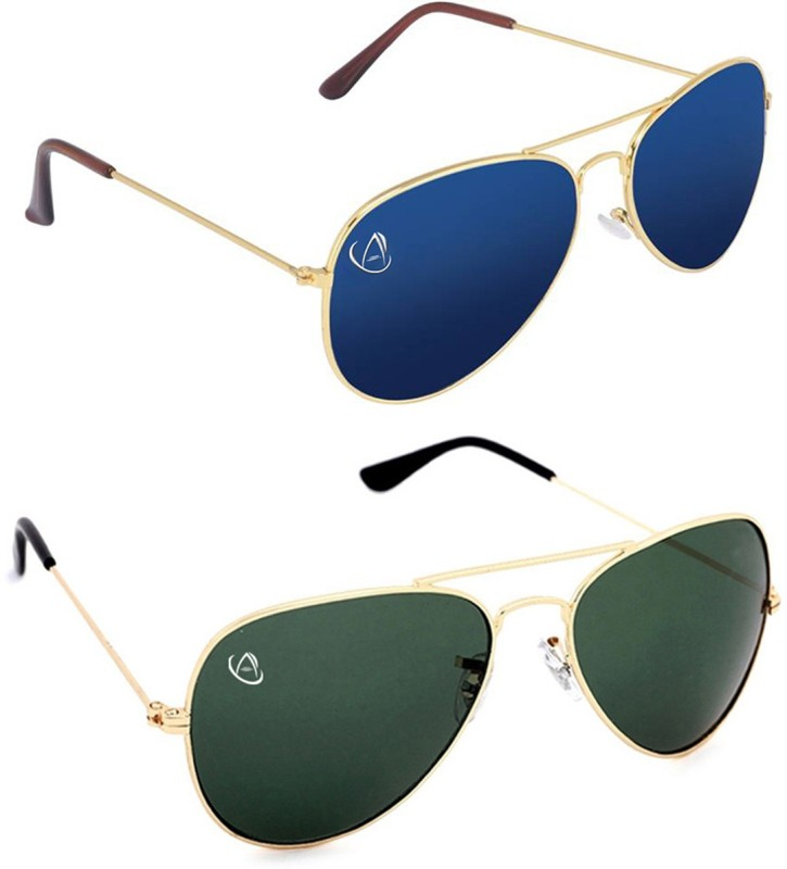 Aventus Aviator Sunglasses(Blue, Green)