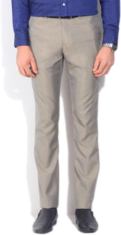 Arrow Regular Fit Mens Beige Trousers