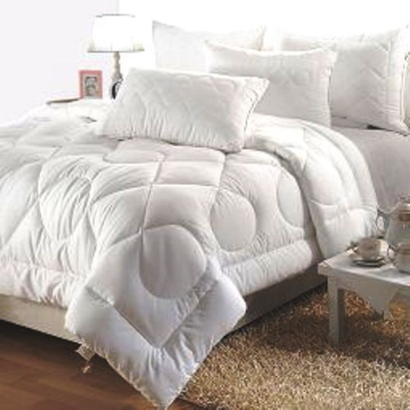 India Furnish Floral Double Quilts & Comforters White(AC Quilt, 1...