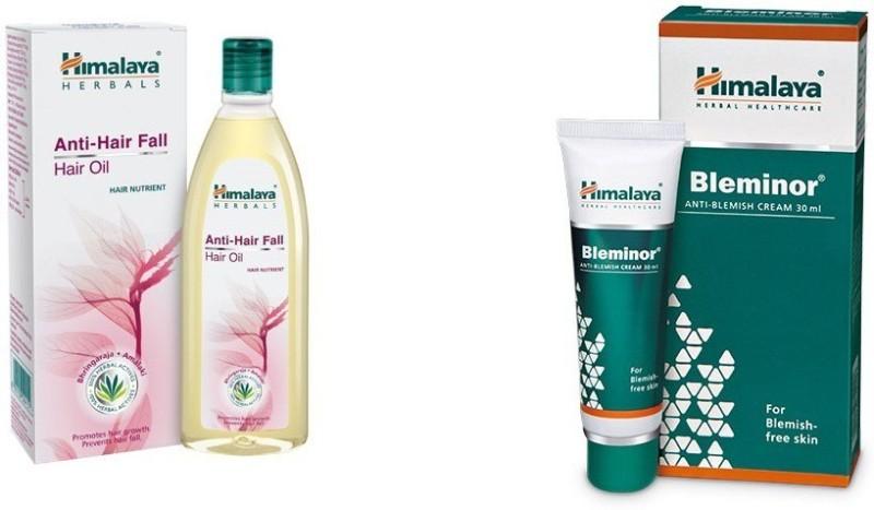 Himalaya hair fall oil (100ml) and bleminor cream(30 ml)(Set of 2)
