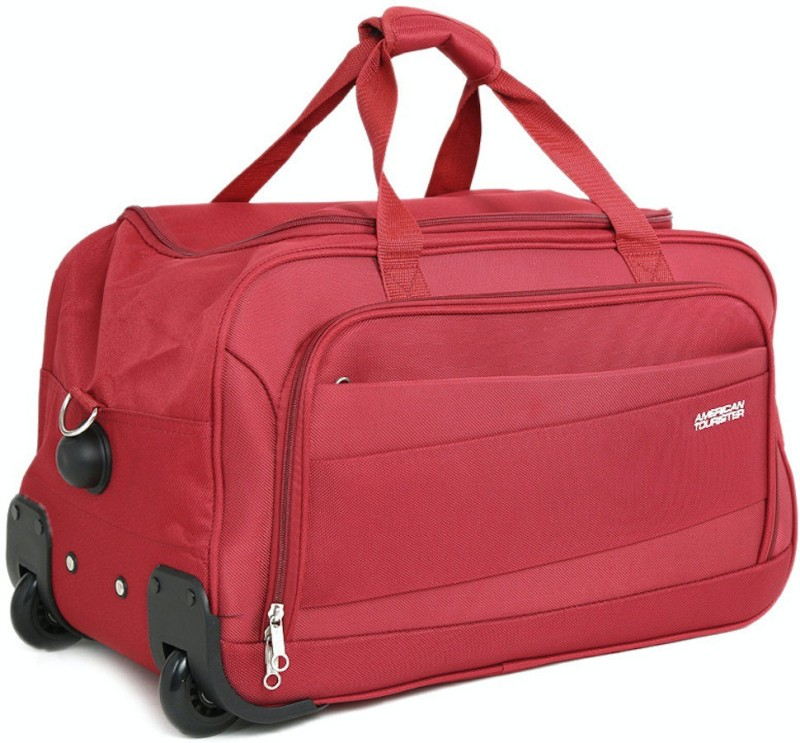 American Tourister Pep Duffel Strolley Bag(Red)