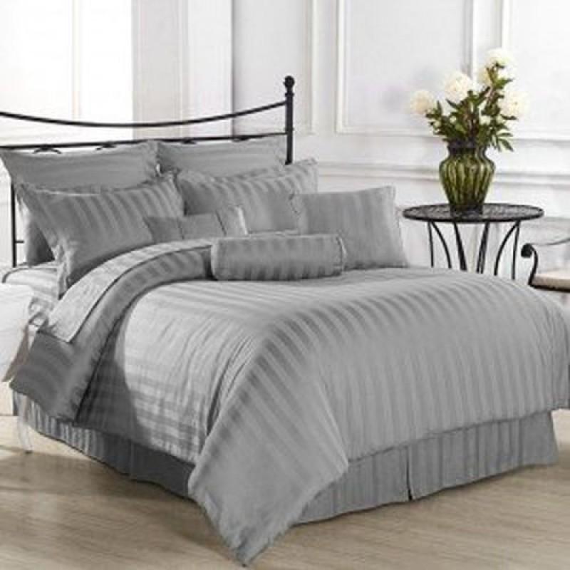 Linenwalas Queen Cotton Duvet Cover(Grey)