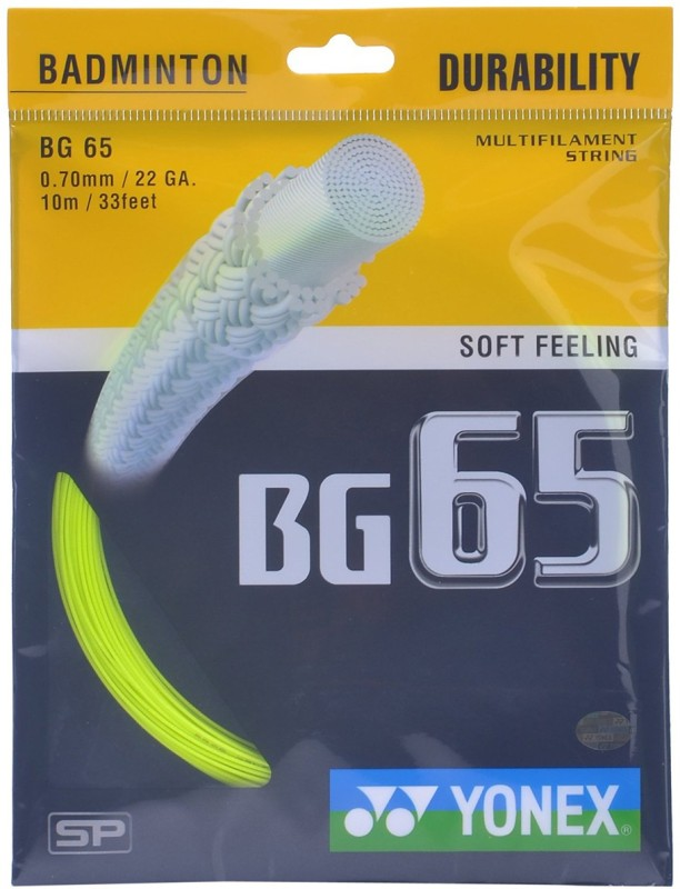 Yonex BG65 0.70 Badminton String - 10 m(Yellow)